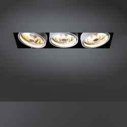 Multiple trimless 3x CDM-R111 GE | Spotlights | Modular Lighting Instruments