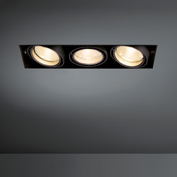 Multiple trimless 3x CDM-T GE | Spotlights | Modular Lighting Instruments