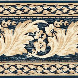 Grand Elegance fleures nicole blu su crema | Baldosas de cerámica | Petracer's Ceramics