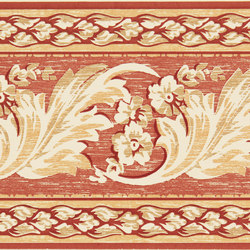 Grand Elegance fleures nicole rosso su crema | Baldosas | Petracer's Ceramics