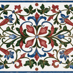Grand Elegance fleures bouquet su panna | Wall tiles | Petracer's Ceramics