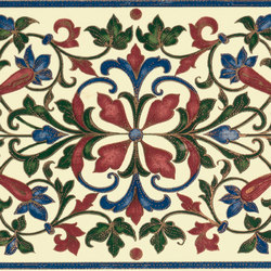 Grand Elegance fleures bouquet su crema | Wall tiles | Petracer's Ceramics