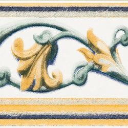 Grand Elegance fleures giglio policromo su panna | Baldosas de cerámica | Petracer's Ceramics
