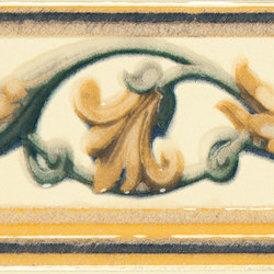 Grand Elegance fleures giglio policromo su crema | Baldosas de cerámica | Petracer's Ceramics