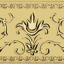 Grand Elegance narciso A oro su crema | Azulejos de pared | Petracer's Ceramics