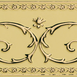 Grand Elegance narciso B oro su crema | Azulejos de pared | Petracer's Ceramics