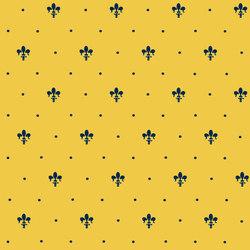 Grand Elegance giglio blu su giallo ocra | Carrelage mural | Petracer's Ceramics