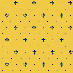 Grand Elegance giglio blu su giallo ocra | Carrelage céramique | Petracer's Ceramics