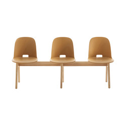 Alfi Bench high back | Beam / traverse seating | emeco