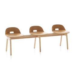 Alfi Bench low back | Beam / traverse seating | emeco