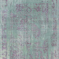 Immersive Vispan couture green purple | Rugs | THIBAULT VAN RENNE