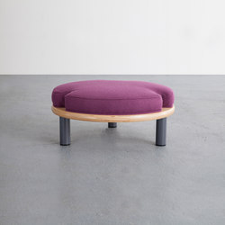 Ida White | Foot Stool | Poufs / Polsterhocker | David Gaynor Design