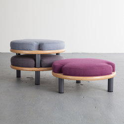 Ida White Foot Stools | Poufs / Polsterhocker | David Gaynor Design