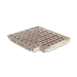 Hawaii Corner Ceramic Grating | Sea Rock Caramel | Anti-slip tiles | Cerámica Mayor