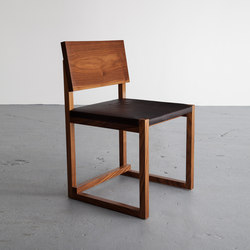 SQ1 Dining Chair Leather | Visitors chairs / Side chairs | David Gaynor Design