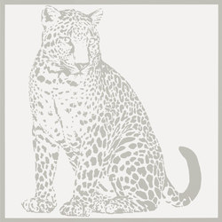 Gran Galà leopardo seduto bianco | Ceramic tiles | Petracer's Ceramics