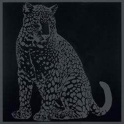 Gran Galà leopardo seduto nero | Carrelage | Petracer's Ceramics