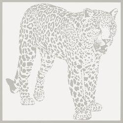 Gran Galà leopardo a caccia bianco | Wall tiles | Petracer's Ceramics
