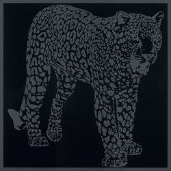 Gran Galà leopardo a caccia nero | Piastrelle/mattonelle da pareti | Petracer's Ceramics