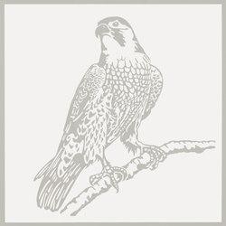 Gran Galà falcone in vedetta bianco | Ceramic tiles | Petracer's Ceramics