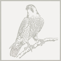 Gran Galà falcone in vedetta bianco | Wall tiles | Petracer's Ceramics