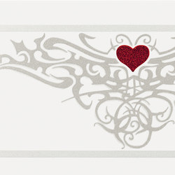 Gran Galà tattoo heart bianco | Wall tiles | Petracer's Ceramics