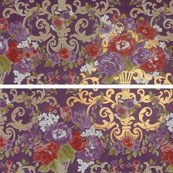 Primavera Romana fioritura su viola oro | Wandfliesen | Petracer's Ceramics