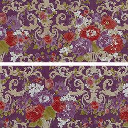 Gran Galà mary fioritura su viola | Piastrelle ceramica | Petracer's Ceramics