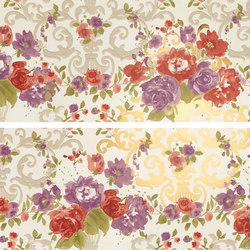 Gran Galà mary fioritura su bianco oro | Piastrelle/mattonelle da pareti | Petracer's Ceramics