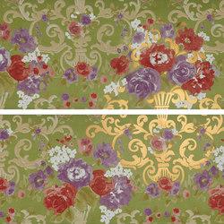 Primavera Romana fioritura su verde oro | Azulejos de pared | Petracer's Ceramics