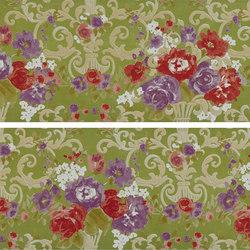 Gran Galà mary fioritura su verde | Piastrelle/mattonelle da pareti | Petracer's Ceramics