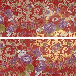 Gran Galà mary fioritura su rosso oro | Piastrelle/mattonelle da pareti | Petracer's Ceramics