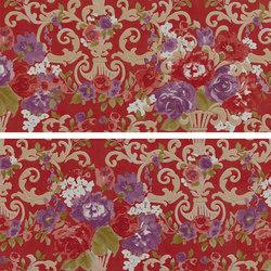Primavera Romana fioritura su rosso | Wall tiles | Petracer's Ceramics