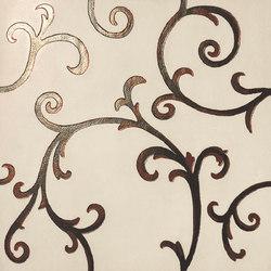 Rinascimento Decorata avorio rame | Piastrelle/mattonelle da pareti | Petracer's Ceramics