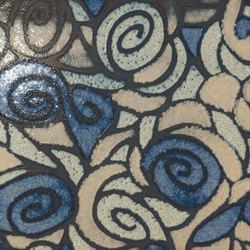 Tango amore su fondo blu | Ceramic tiles | Petracer's Ceramics