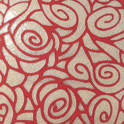 Tango passione su fondo rosso | Bodenfliesen | Petracer's Ceramics
