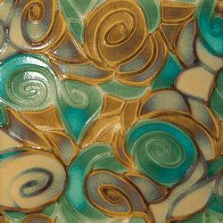 Tango desiderio su fondo beige | Carrelage céramique | Petracer's Ceramics