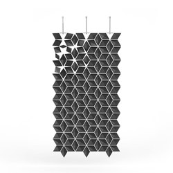Hanging Room Divider Facet - graphite | Space dividers | Bloomming