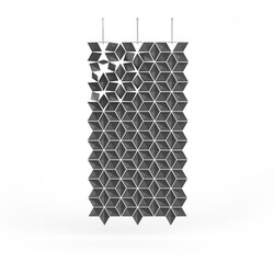Hanging Room Divider Facet - graphite | Separación de ambientes | Bloomming