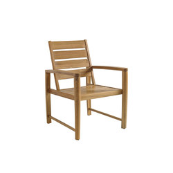 Oyster Reef Dining Chair with Arms | Sillas de jardín | Gloster Furniture