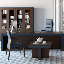 Escritorios ejecutivos-Sillas direccionales-Mesas de oficina-Belesa espresso azul-Ofifran
