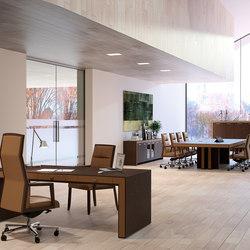 Escritorios ejecutivos-Sillas direccionales-Mesas de oficina-Belesa espresso marron-Ofifran