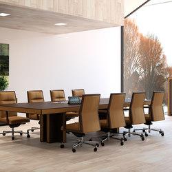 Mesas de conferencias-Conferencia-reunión-Belesa espresso marron-Ofifran