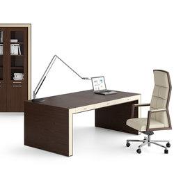 Escritorios ejecutivos-Sillas direccionales-Mesas de oficina-Belesa espresso marfil-Ofifran