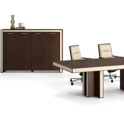 Escritorios ejecutivos-Aparadores-cómodas-Mesas de oficina-Belesa espresso marfil-Ofifran