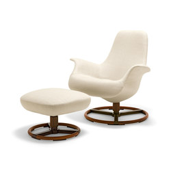 Tilt Armchair with Footrest | Loungesessel | Giorgetti