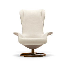 Tilt Swivel Wing Chair | Loungesessel | Giorgetti