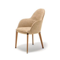 Selene Small Armchair | Visitors chairs / Side chairs | Giorgetti
