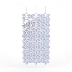 Hanging Room Divider Facet - paleblue | Folding screens | Bloomming