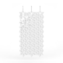 Hanging Room Divider Facet - white | Space dividers | Bloomming